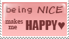 being nice makes me happy by Liliothe