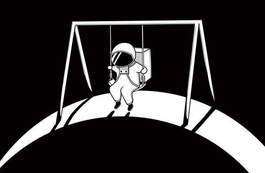 In space no one will push your swing