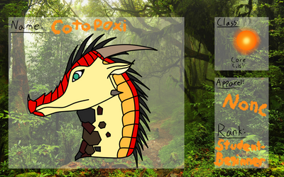 animus academy Cotopaxi Application by ZiaWatcher