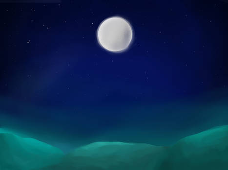 Looking to the moon