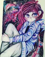 Space girl  by theinsanegirl16