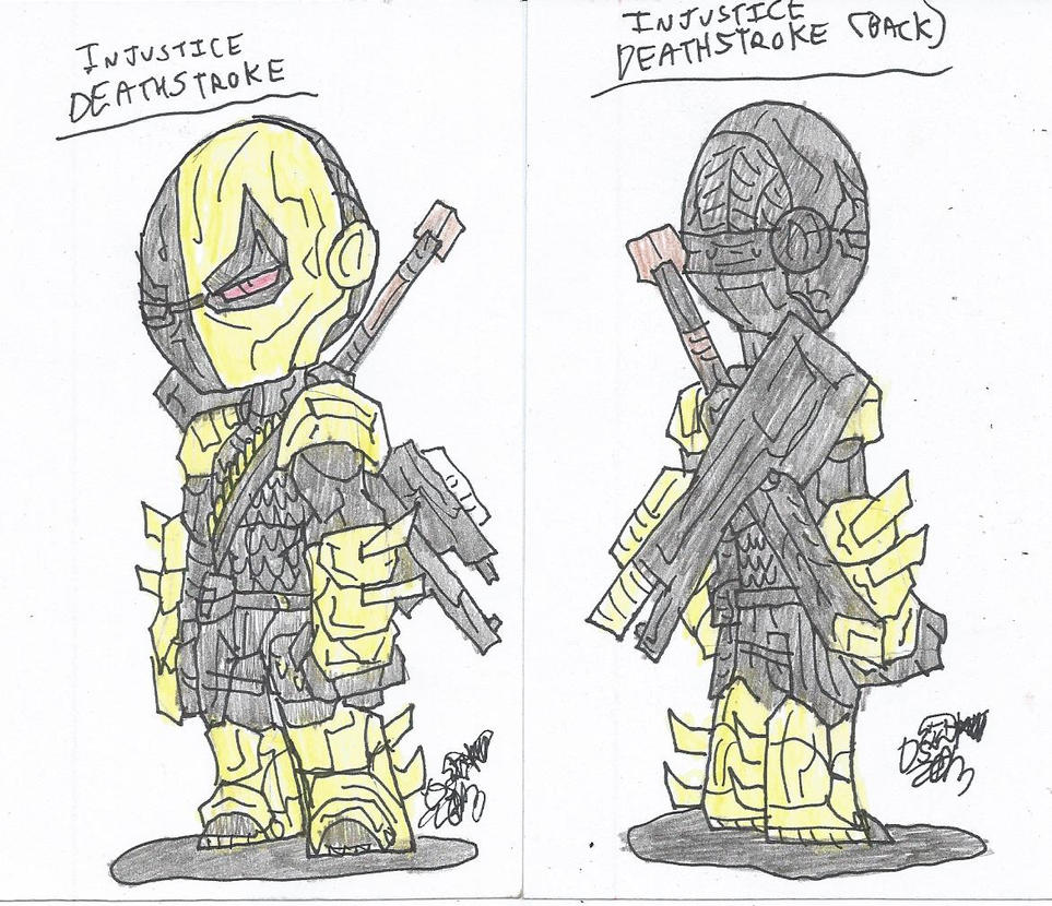 how to draw deathstroke easy