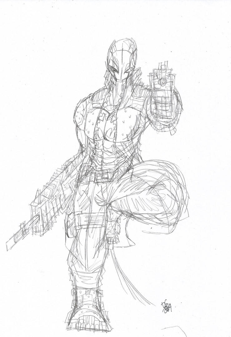 Red Hood Sketch by SMOKER9