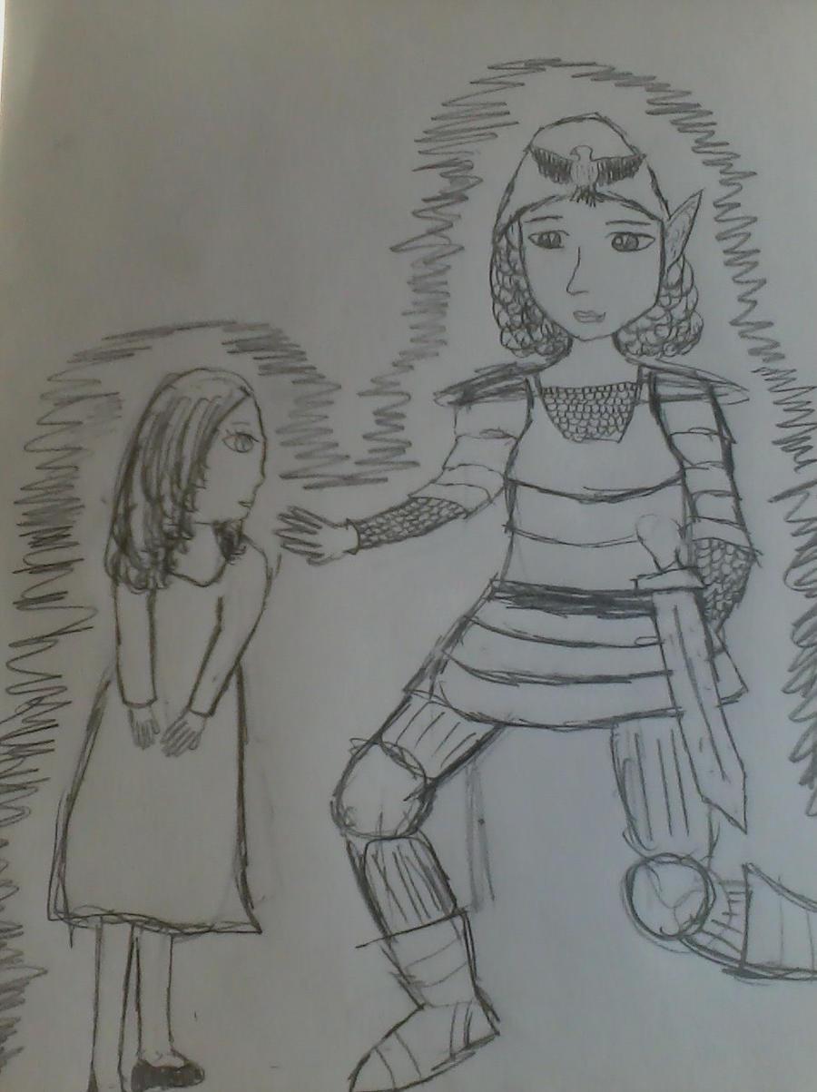 Trigorah and Myranda by ArieieTheWatcher
