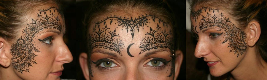 Henna Face Tattoo: Henna-ish Design For Face By TheMajesticCarnival On DeviantArt