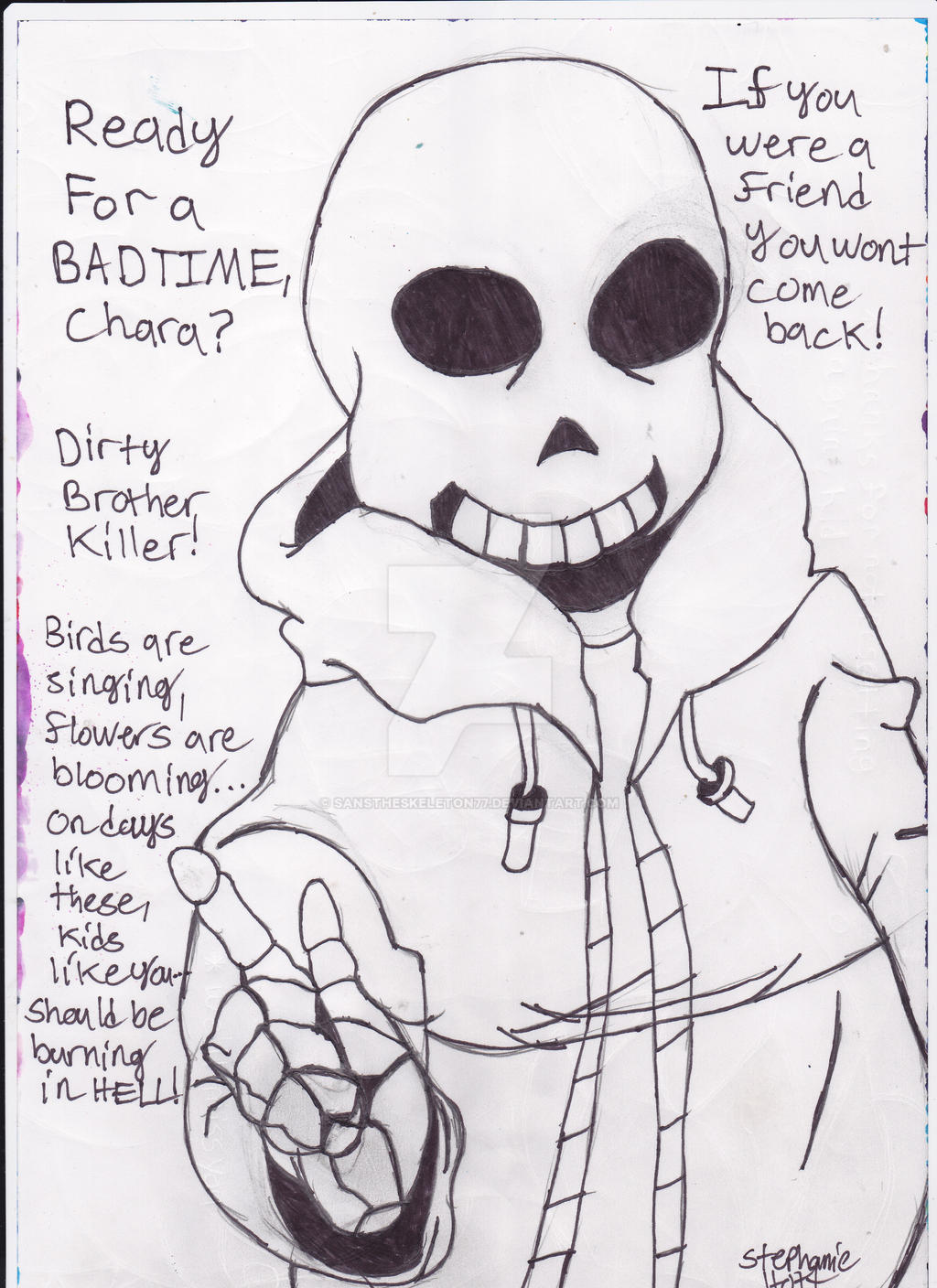 Genocide Sans The Skeleton With His Quotes by