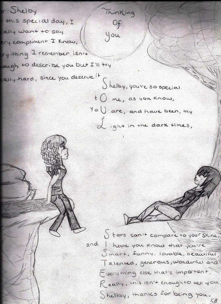 Thinking Of You Sketch by GummyBearKar