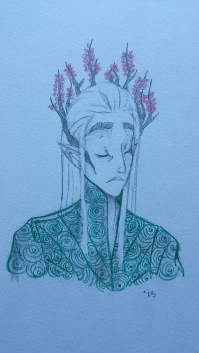 Thranduil Doodle by Threshold-Assassin