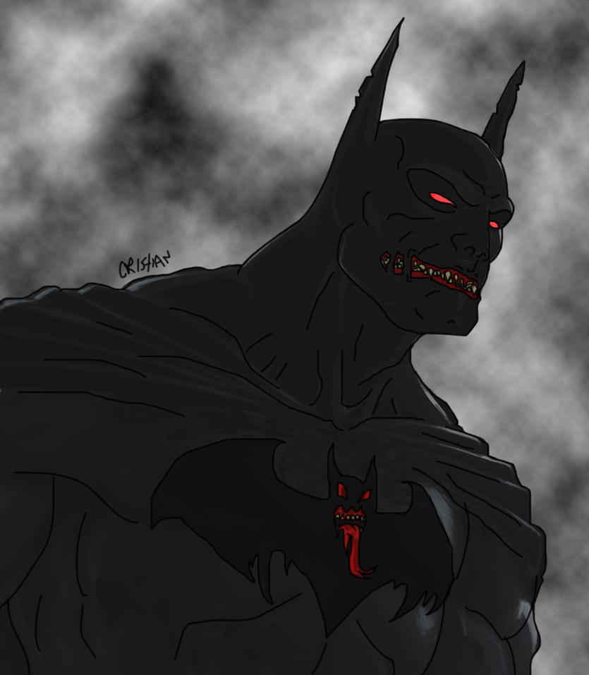 Evil Batman by Crishark