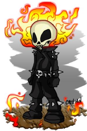 Chibi Ghost Rider by Crishark on deviantART