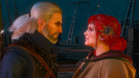 The Witcher 3 Geralt and Triss Wallpaper by Crishark