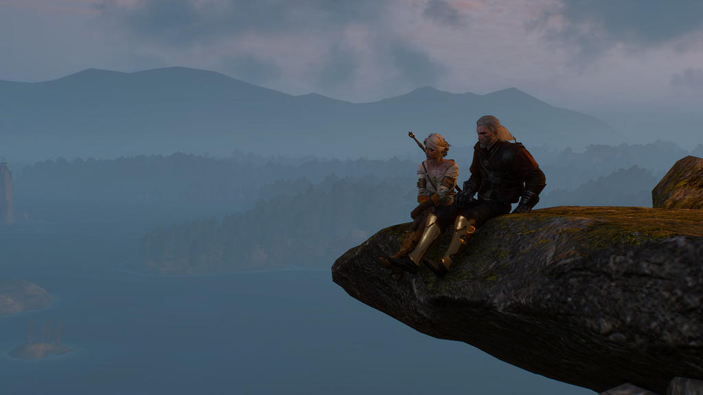 The witcher 3 geralt and ciri at the top wallpaper by crishark on the witcher 3 geralt and ciri at the top wallpaper by crishark voltagebd Images