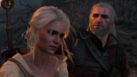 The Witcher 3 Geralt and Ciri Wallpaper by Crishark