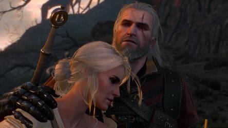 The Witcher 3 Geralt and Ciri 2 Wallpaper by Crishark