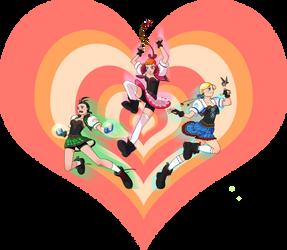 Powerpuff girls by Asderuki
