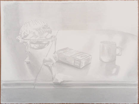 Still life with sugar and cigarettes