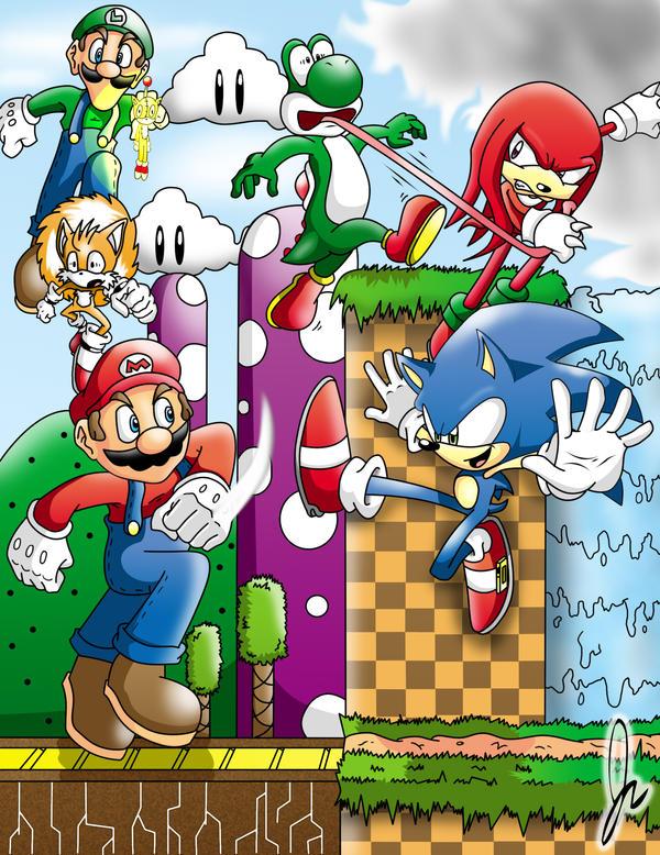 Plumber vs. Hedgehog -Remake- by super-sawnyc128