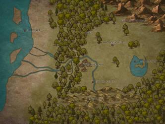 Magnolia Clan Territory by MissTinyTerror