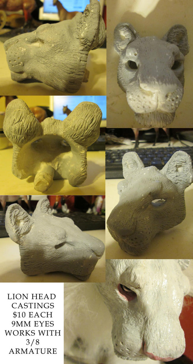 FOR SALE: Lion Doll Head Castings by Droemar