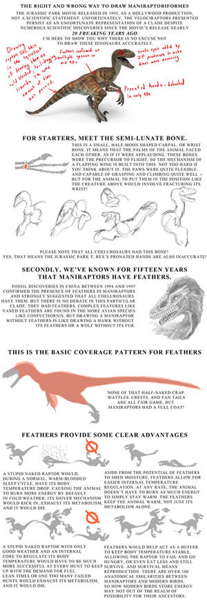 The Tutorial on How to Stop Drawing Stupid Raptors
