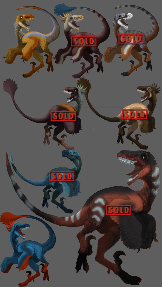 Raptor Adoptables 1 by Droemar