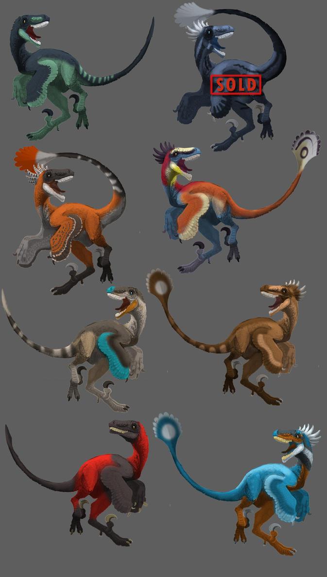 Raptor Adoptables 2 by Droemar