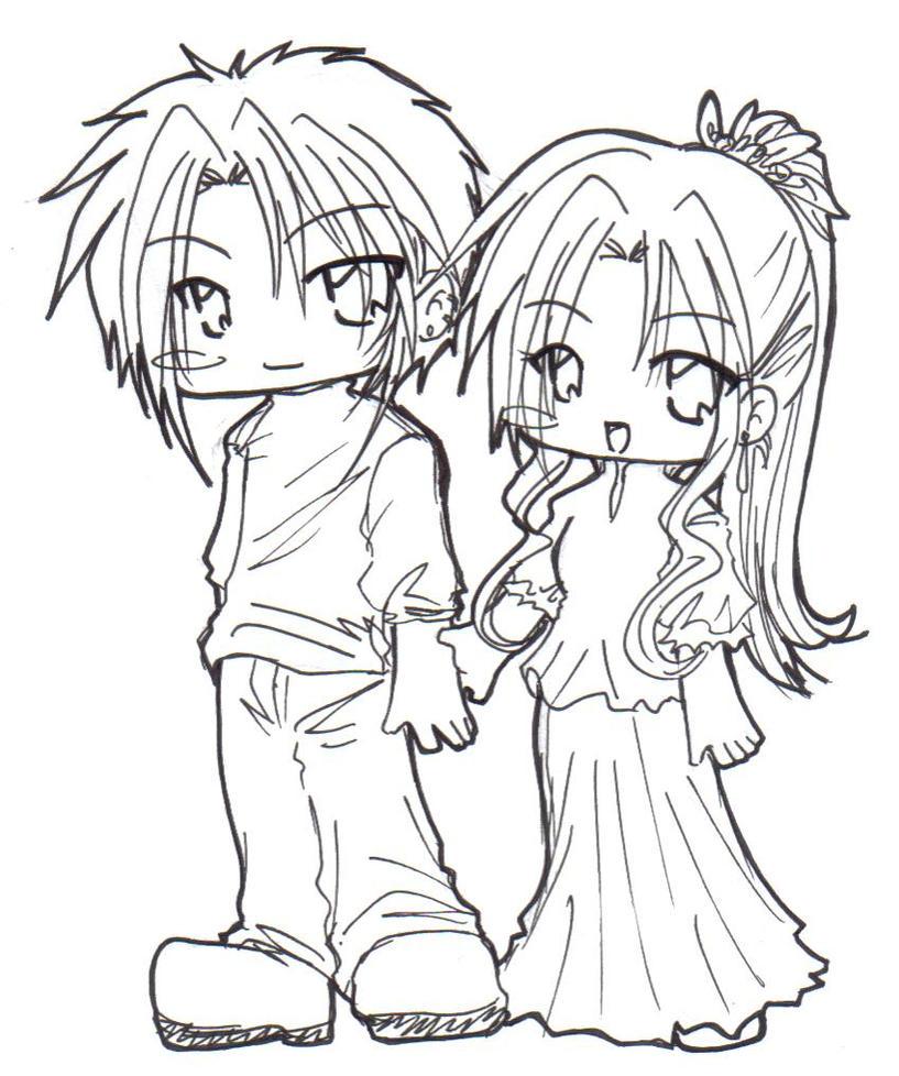 Chibi couple by alcrestkiera on DeviantArt