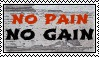 No Pain No Gain Stamp by allyalltheway