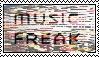 Music Freak Stamp by allyalltheway