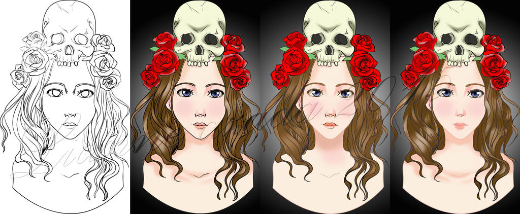 Skull colored ver. by lianne07