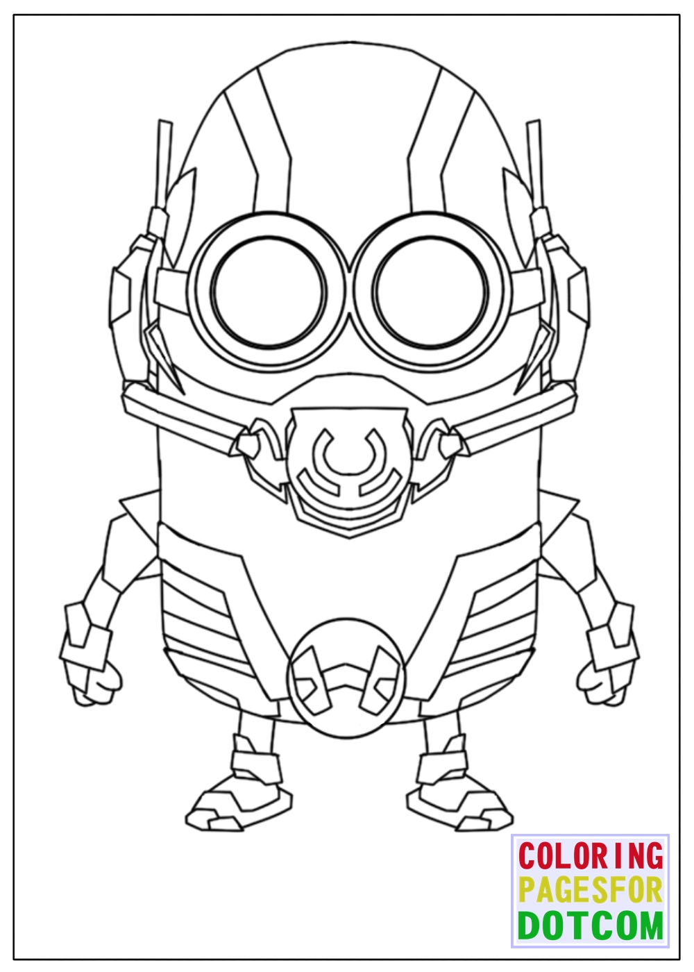 ... Minion Ant Man Mode Coloring Pages By Blackartist22