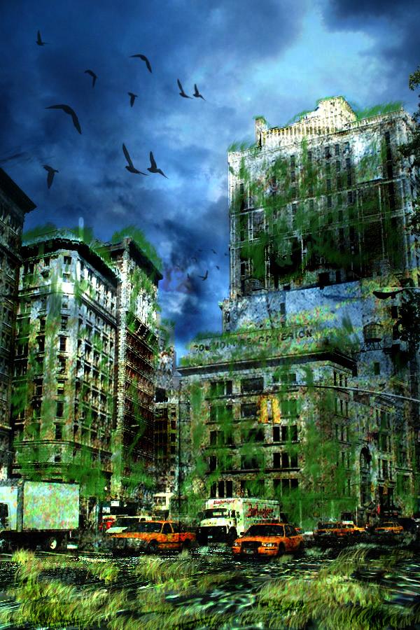 Concept Art : Post-Zombie apocalypse city #2 by ...