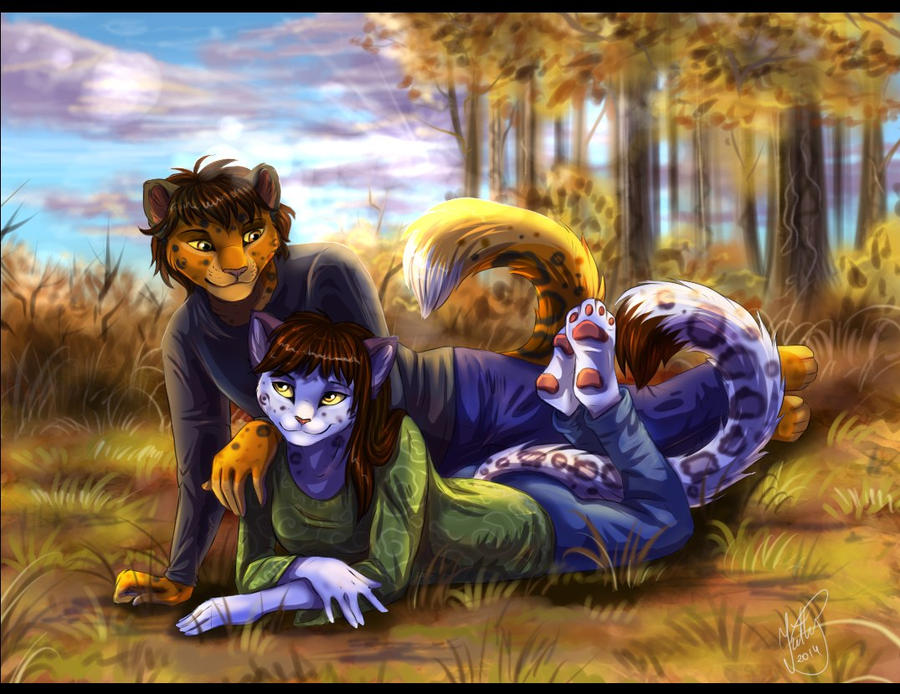 Autumn forest by Fur-kotka