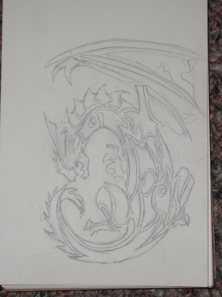Tribal Dragon by brandedfangirl on deviantART