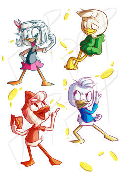 The Duck Children by DeepestPainter