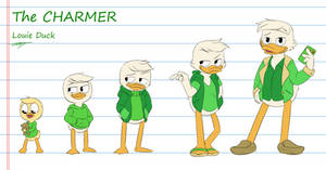 Louie Duck Age Timeline by DeepestPainter