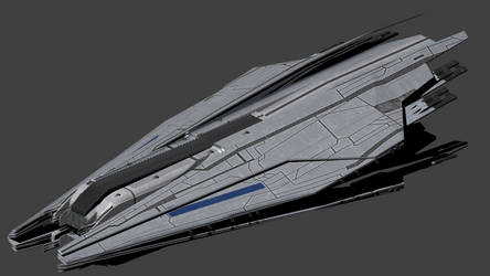 Systems alliance Style Superdreadnought Prometheus by wbyrd