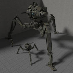 Invader Tripod by wbyrd