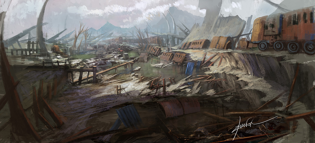 ruins of a city by zhangc