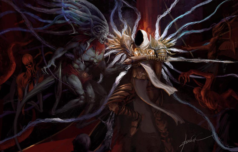 Tyrael vs baal by zhangc on DeviantArt Baal Diablo 3