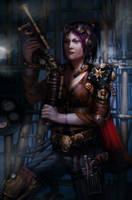 Steampunk warrior by zhangc