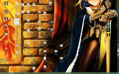 Saber on my desktop by Jenphi