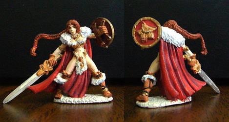 Hjordis Barbarian Figure