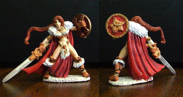 Hjordis Barbarian Figure by Jenphi