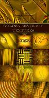 Golden abstract textures