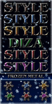 Frozen metal styles