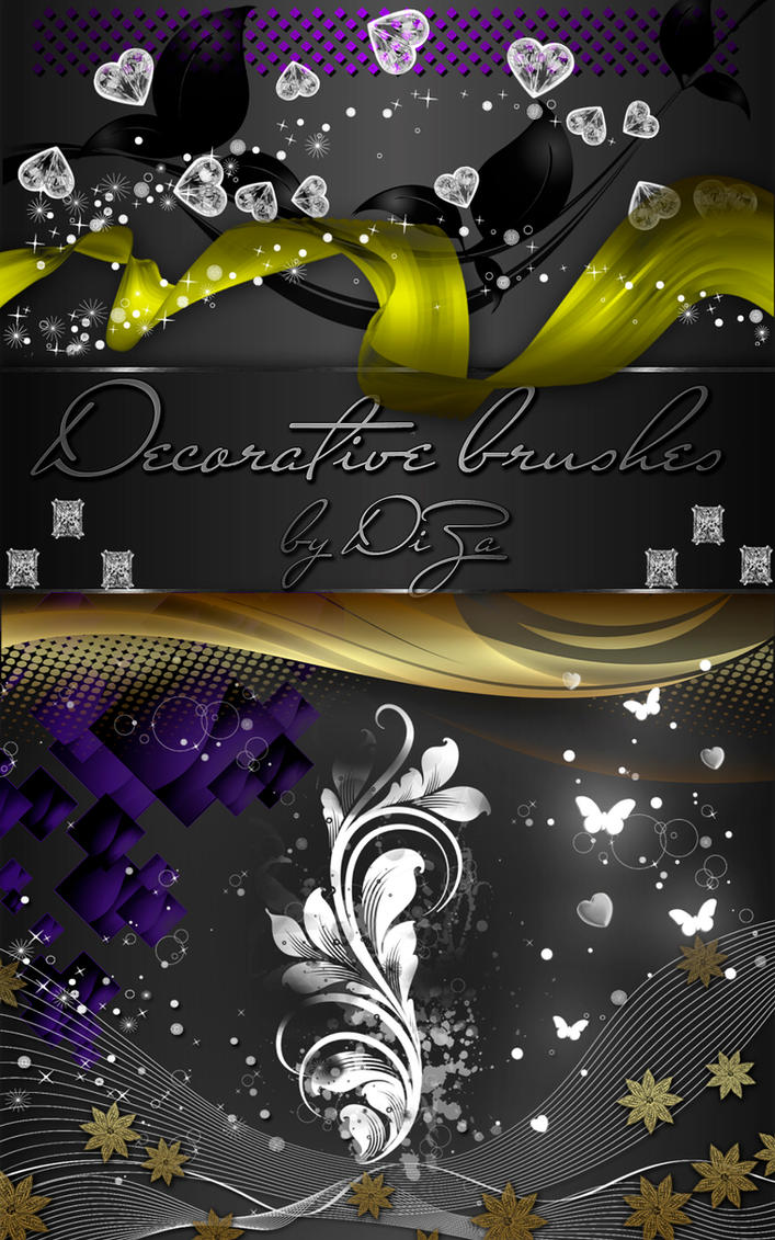 Photoshop Decorative Brushes by DiZa-74