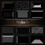 Black styles for Photoshop