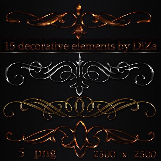15 decorative elements by DiZa-74