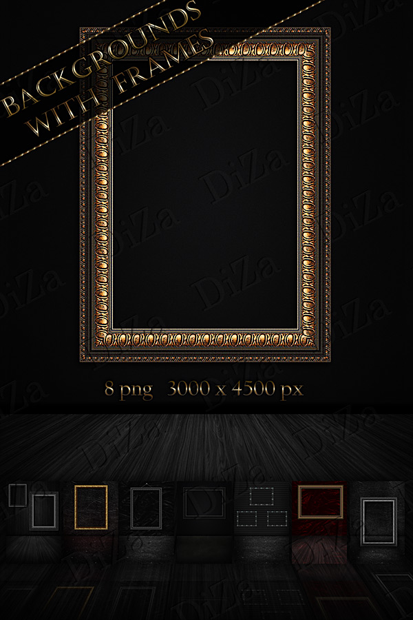 Backgrounds with frames by DiZa-74